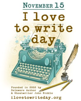 Poster announcing  November 15, I Love to Write Day