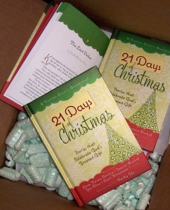 21 Days of Christmas book delivery