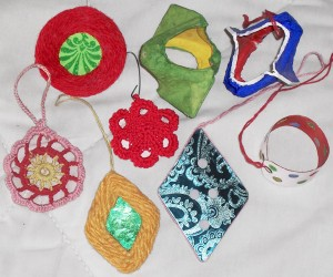 Linda's homemade ornaments