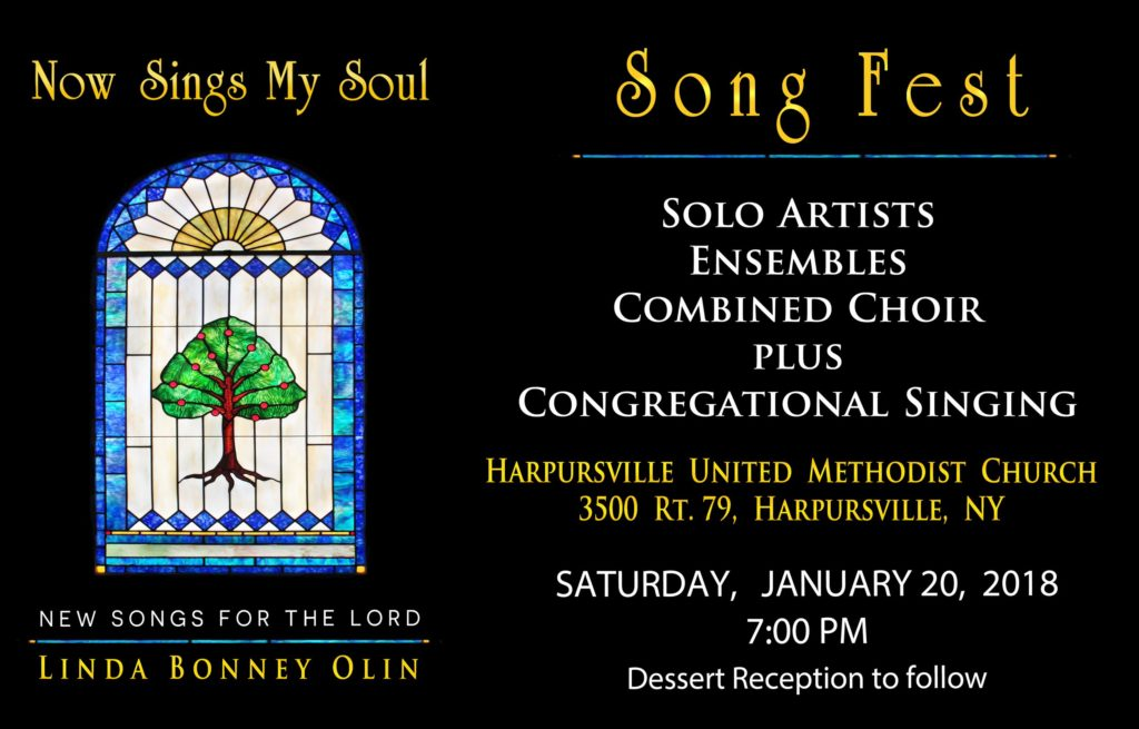 Event poster for Now Sings My Soul Song Fest